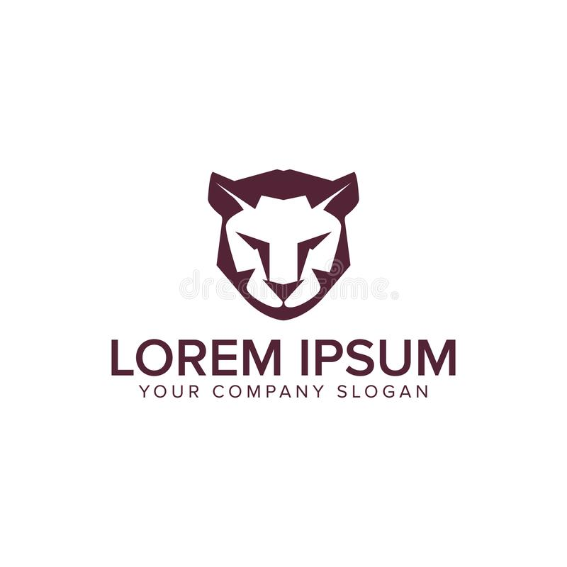 Modello di concetto di progetto di logo della tigre del leone illustrazione di stock