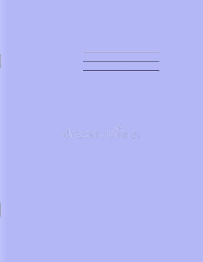 Modello di copertura del quaderno della scuola Prima pagina del libro di esercizi in bianco illustrazione di stock