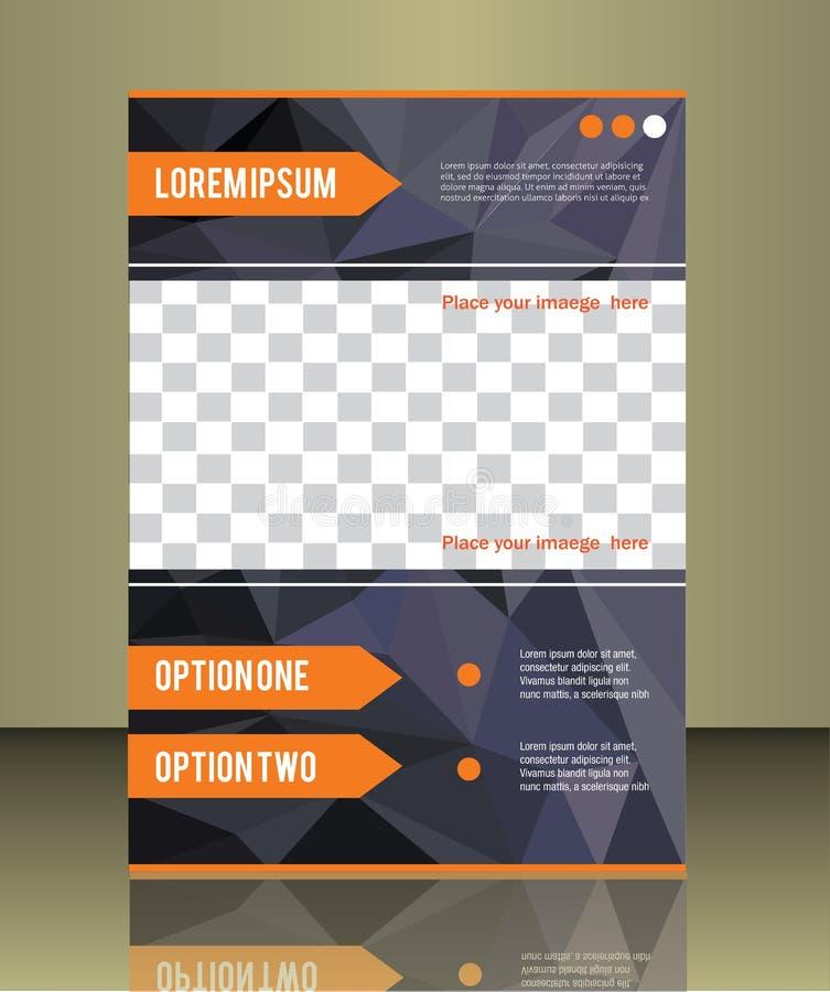 Modello di copertura dell'opuscolo di vettore illustrazione di stock