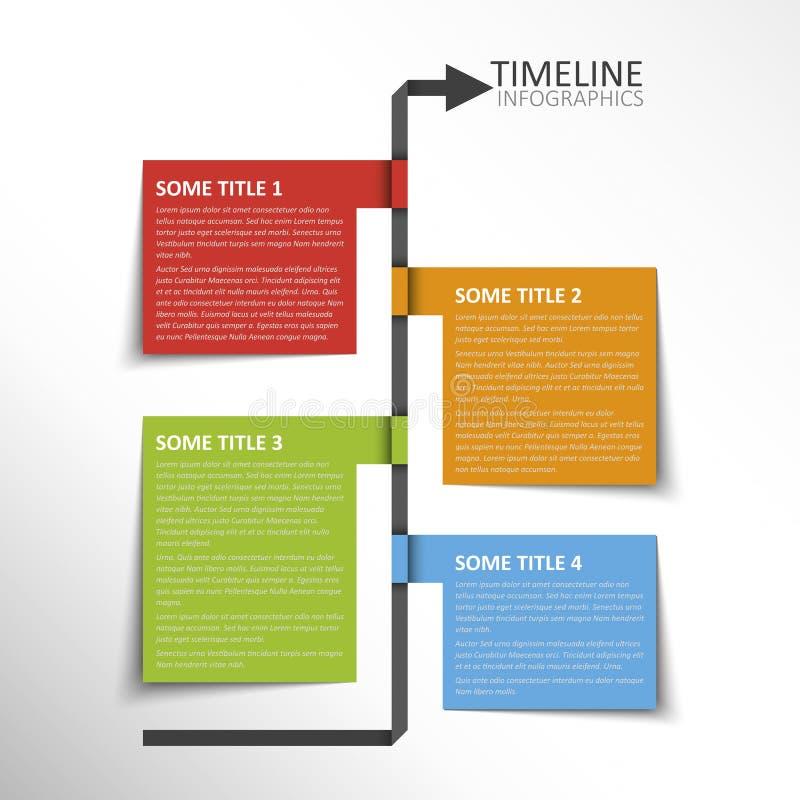 Modello di cronologia illustrazione vettoriale