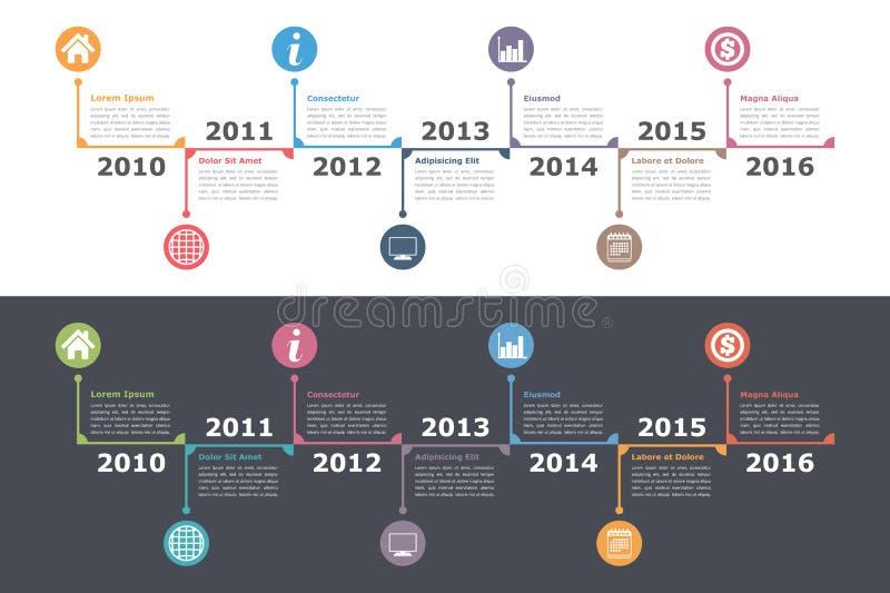 Modello di cronologia illustrazione di stock