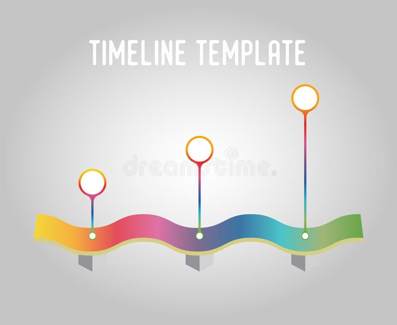 Modello di cronologia di vettore, pendenza Elemento di progettazione per il infographics immagine stock libera da diritti