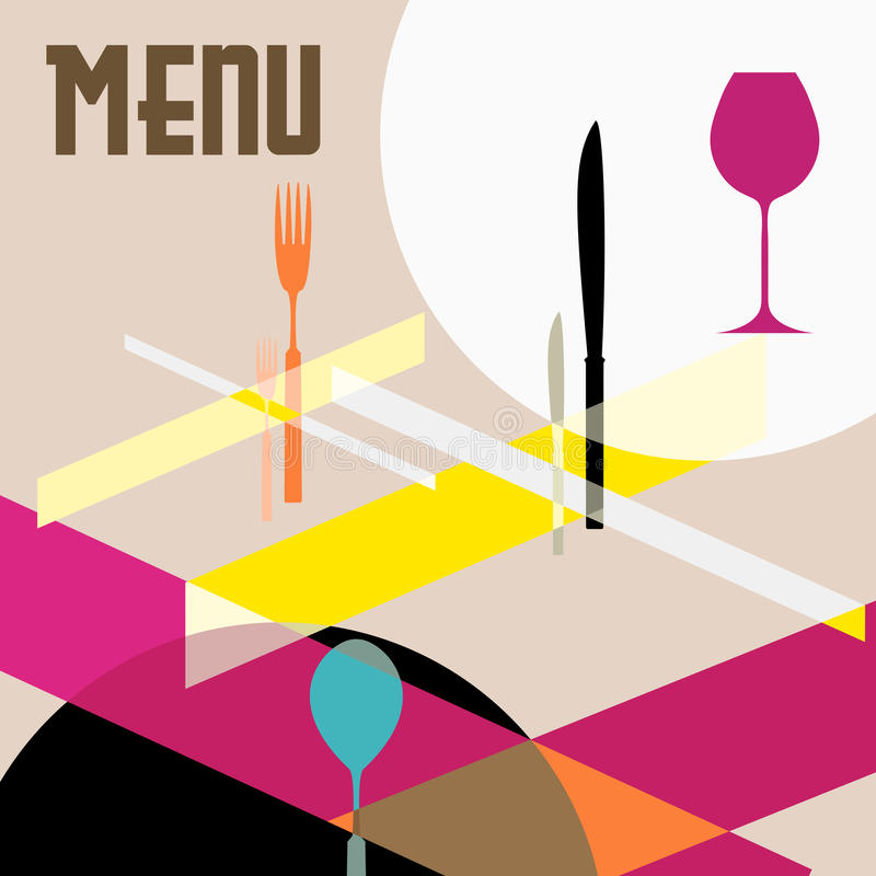 Modello di disegno del menu del ristorante illustrazione vettoriale