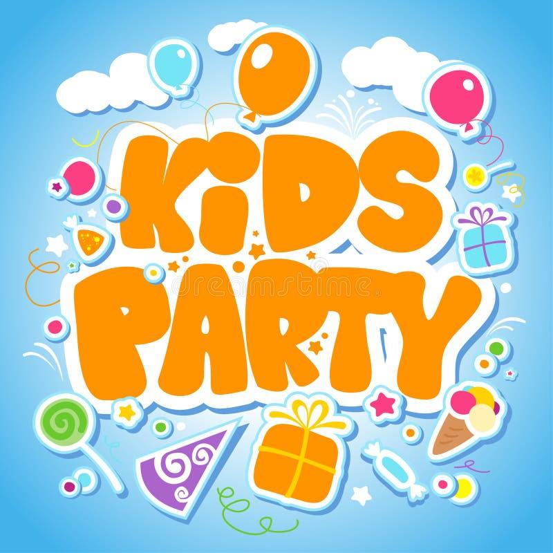 Modello di disegno del partito dei bambini. illustrazione di stock