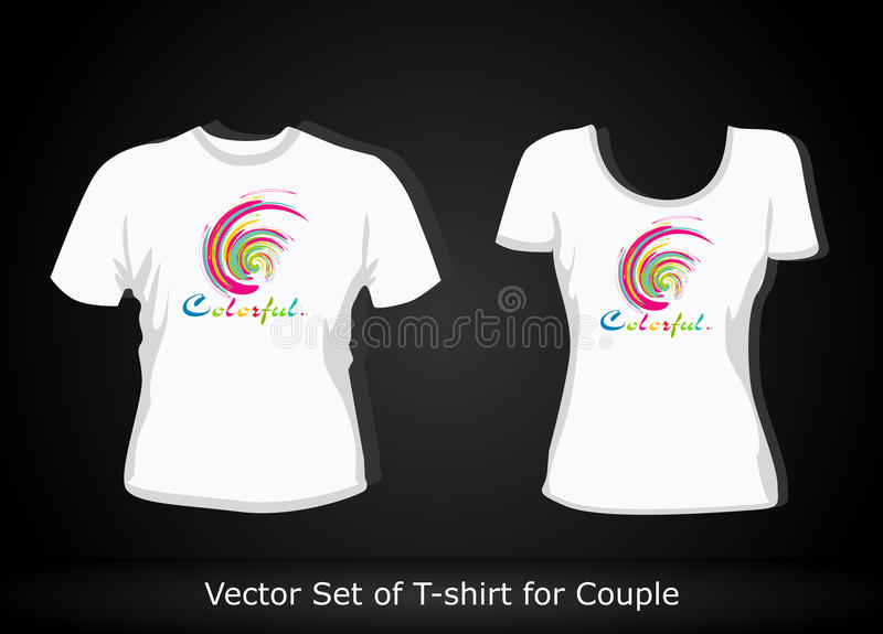 Modello di disegno della maglietta illustrazione vettoriale
