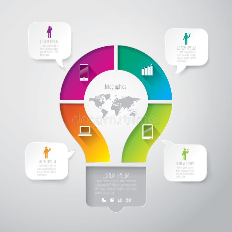 Modello di disegno di Infographics illustrazione di stock
