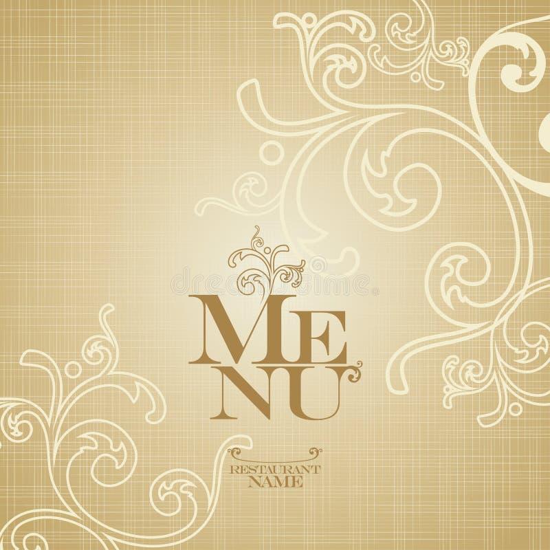 Modello di disegno di scheda del menu. royalty illustrazione gratis