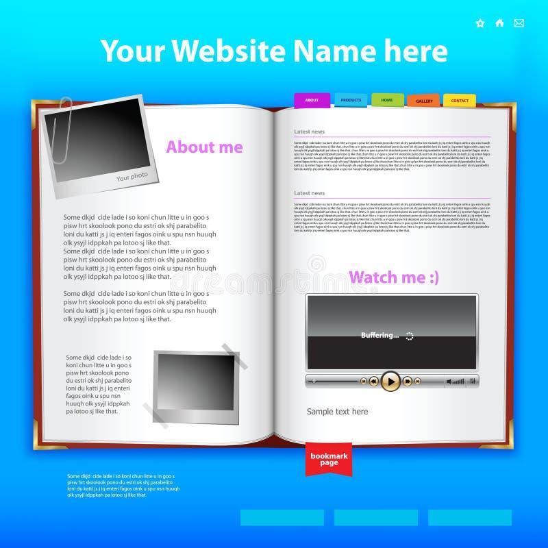 Modello di disegno di Web site. illustrazione di stock