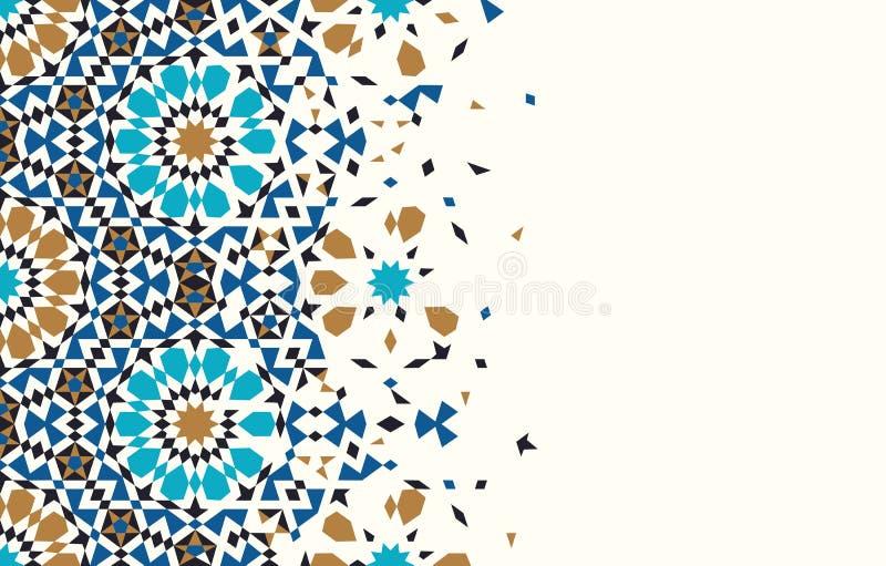 Modello di disintegrazione del Marocco illustrazione di stock