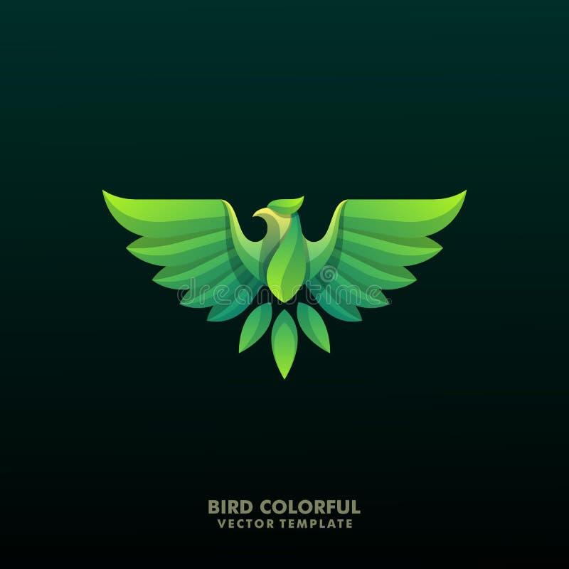 Modello di Eagle Colorful Grand Illustration Vector royalty illustrazione gratis