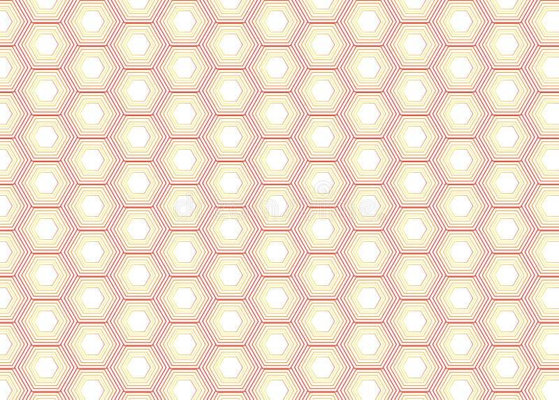 Modello di esagono della perla illustrazione di stock