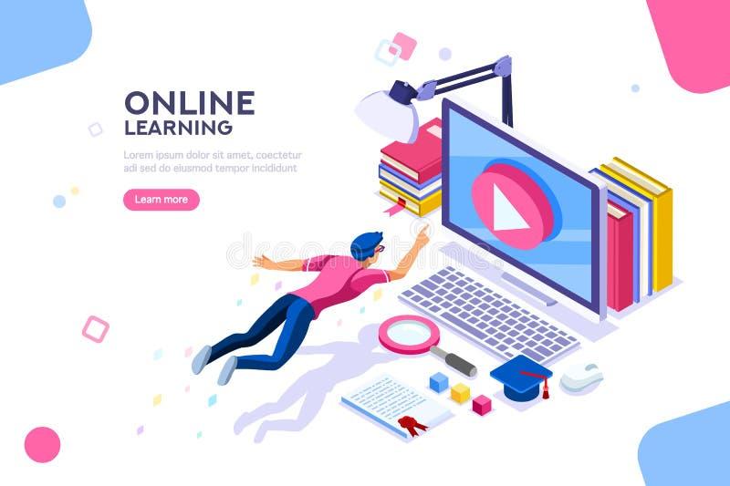 Modello di esercitazione online per il sito Web royalty illustrazione gratis