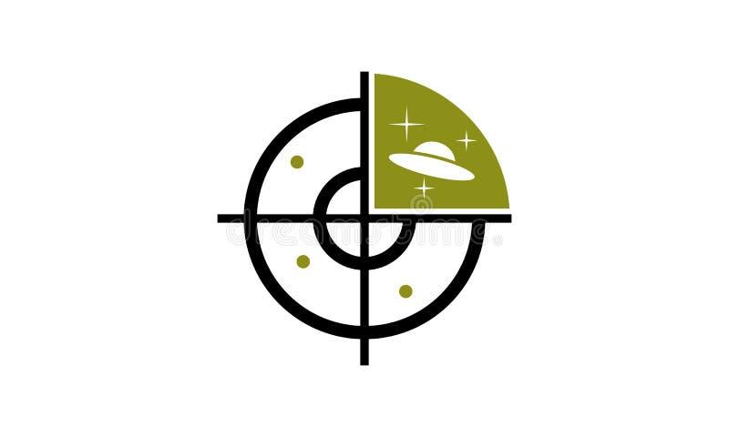 Modello di esplorazione del UFO illustrazione vettoriale