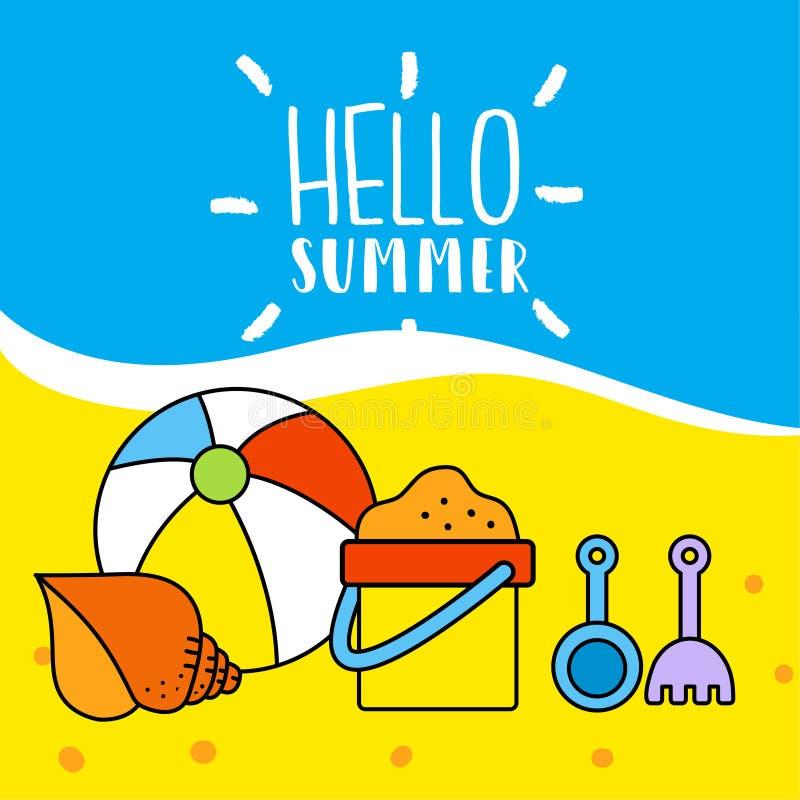 Modello di estate illustrazione di stock