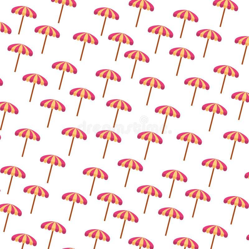 Modello di estate dell'ombrello di spiaggia illustrazione di stock