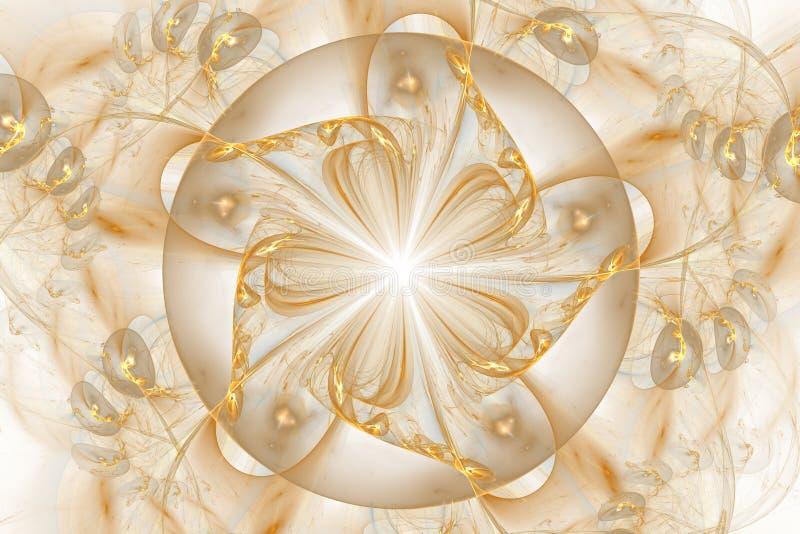 Modello di fantasia del fiore di frattale illustrazione vettoriale
