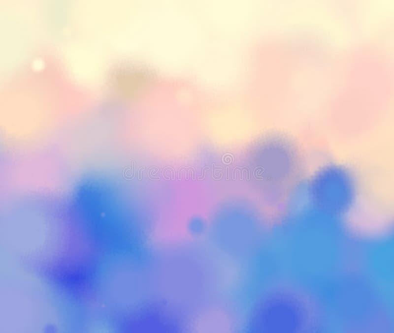 Modello di fantasia dell'acquerello Astrazione blu gialla di pendenza del drow di rosa royalty illustrazione gratis