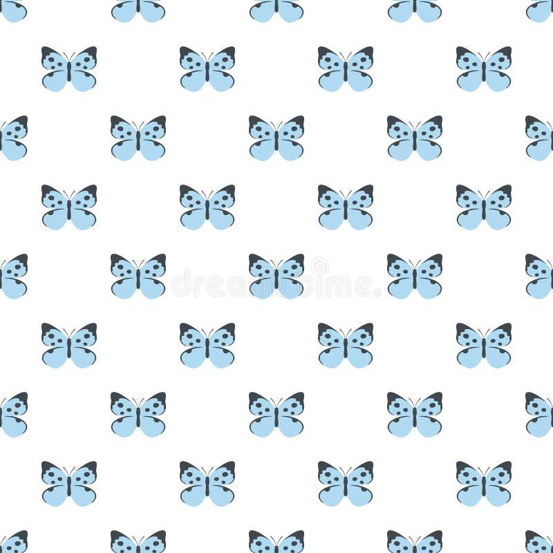 Modello di farfalla decorativo senza cuciture illustrazione vettoriale