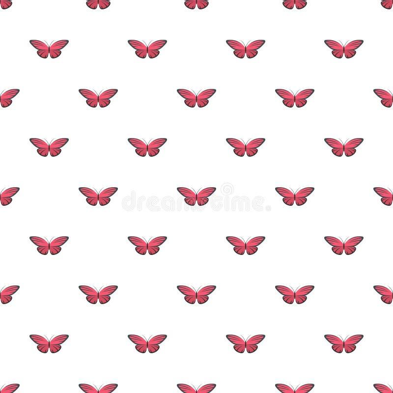 Modello di farfalla piacevole senza cuciture illustrazione vettoriale