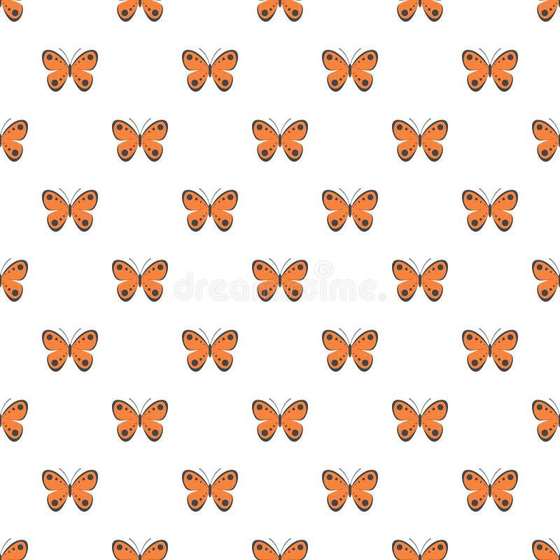 Modello di farfalla tropicale senza cuciture royalty illustrazione gratis