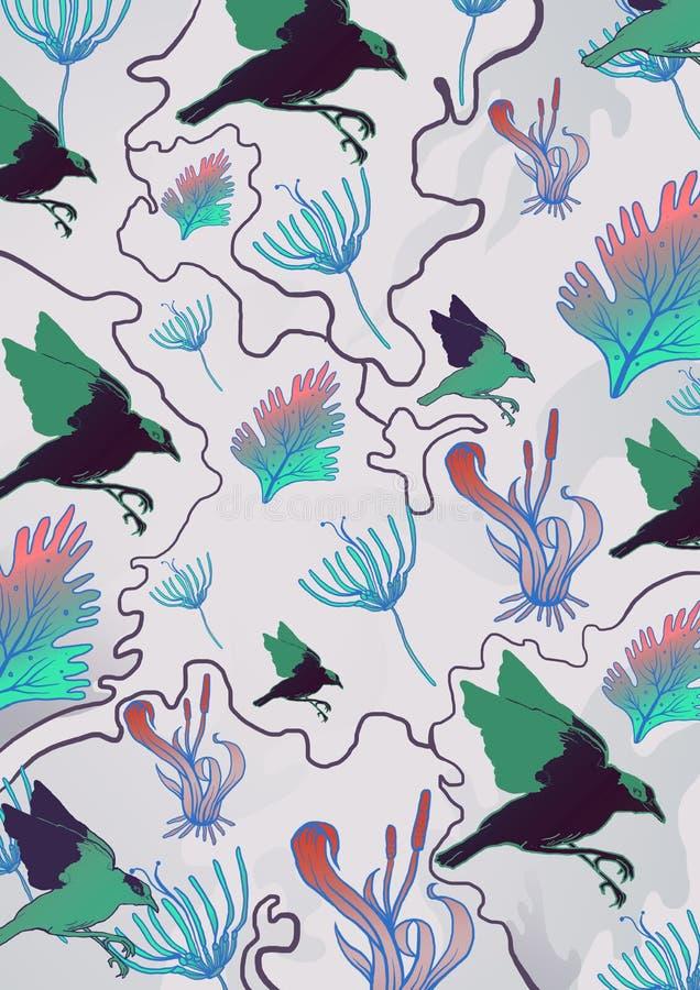 Modello di fauna della flora immagine stock