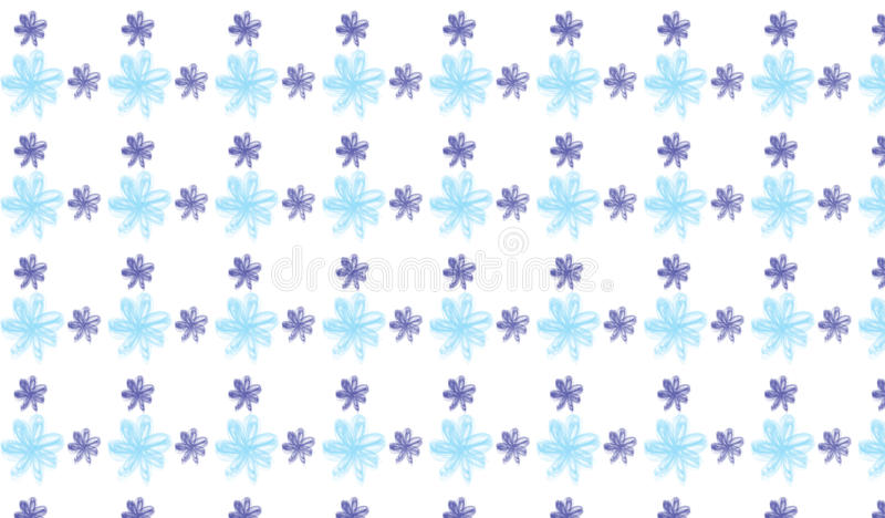 Modello di fiore astratto moderno semplice dell'indaco e del blu fotografia stock