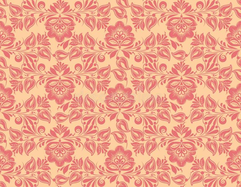 Modello di fiore d'annata senza cuciture della carta da parati classica illustrazione vettoriale