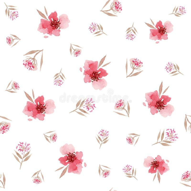 Modello di fiore dell'acquerello illustrazione di stock