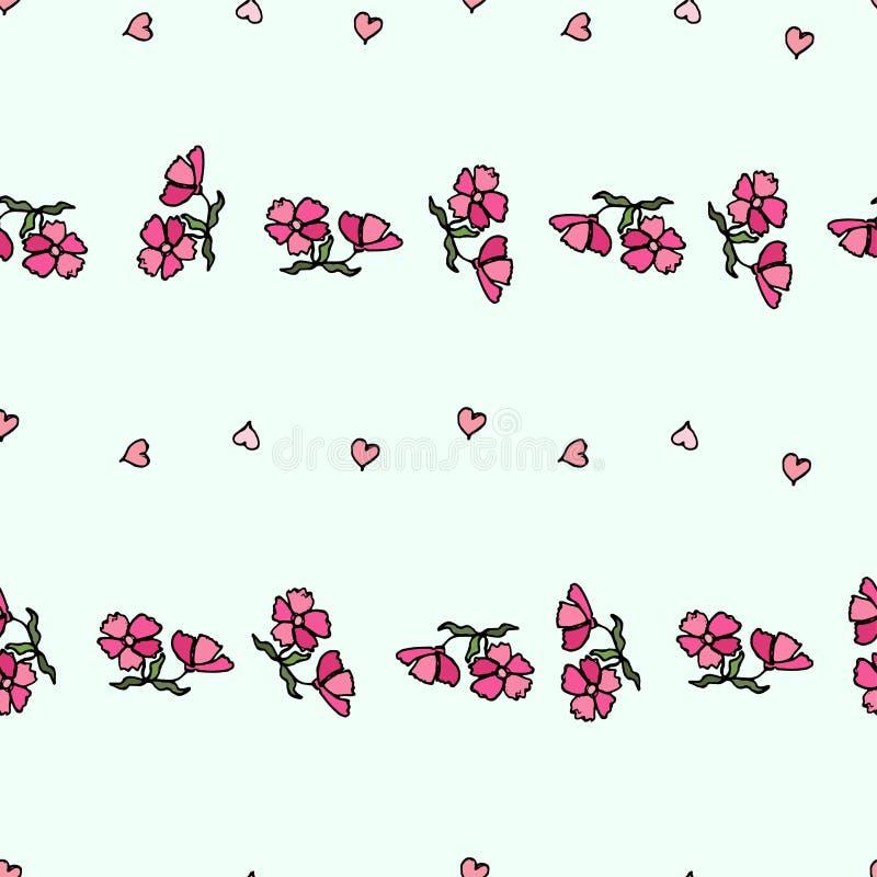 Modello di fiore di piccoli fiori Struttura senza giunte di vettore royalty illustrazione gratis