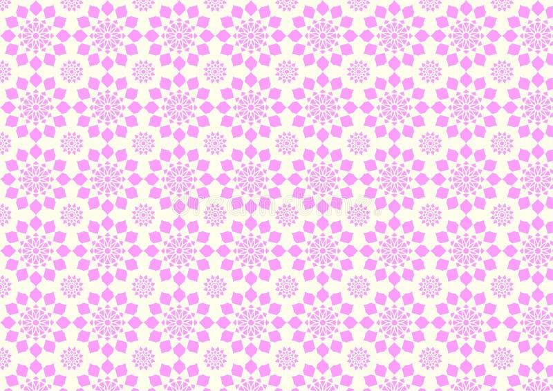 Modello di fiore rosa moderno d'annata su colore pastello royalty illustrazione gratis