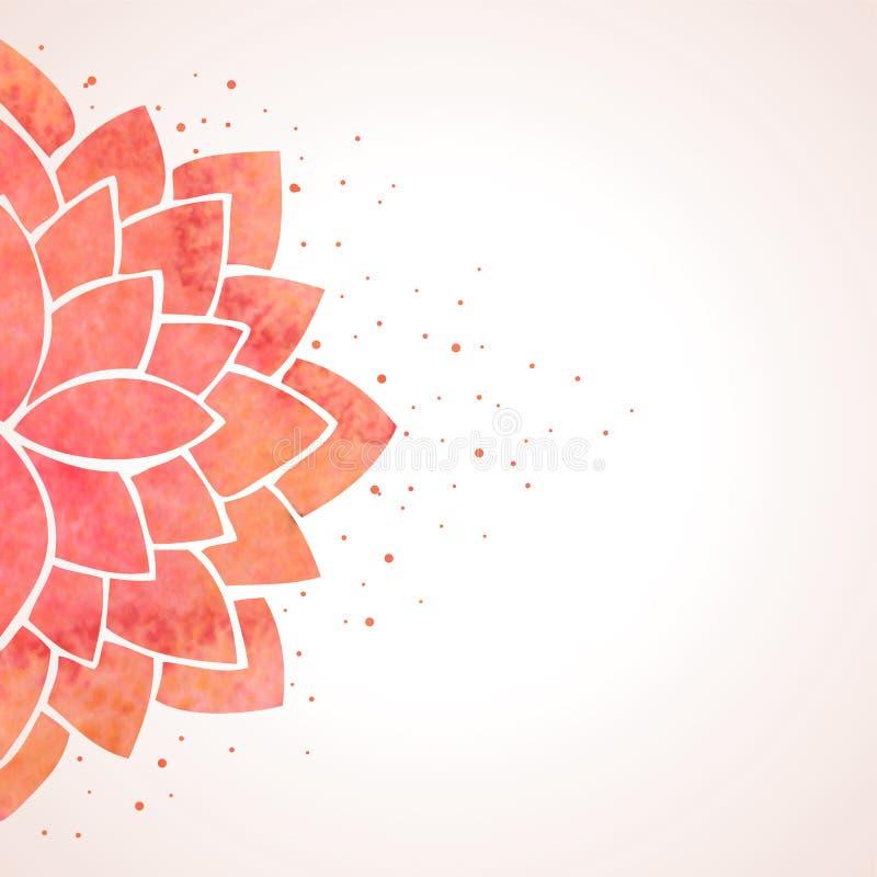 Modello di fiore rosso dell'acquerello Fondo di vettore royalty illustrazione gratis