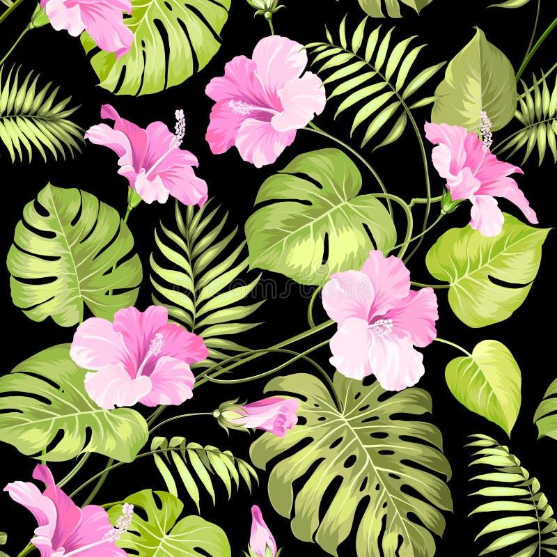 Modello di fiore tropicale royalty illustrazione gratis