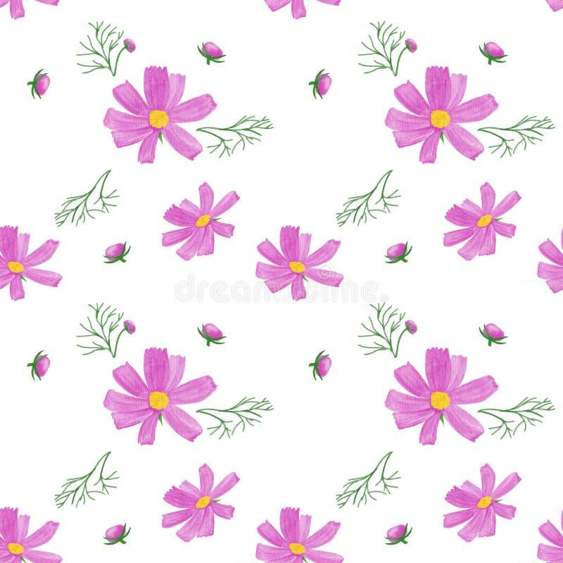 Modello di fiori della primavera illustrazione vettoriale