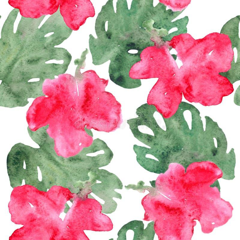 Modello di fiori esotico illustrazione vettoriale