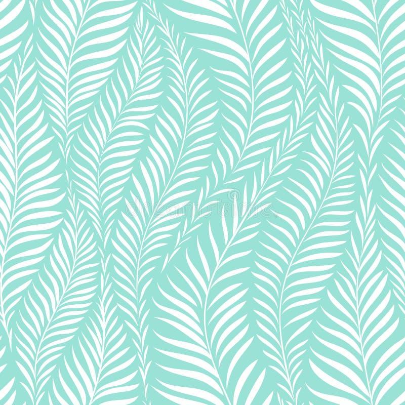 Modello di foglia di palma illustrazione vettoriale