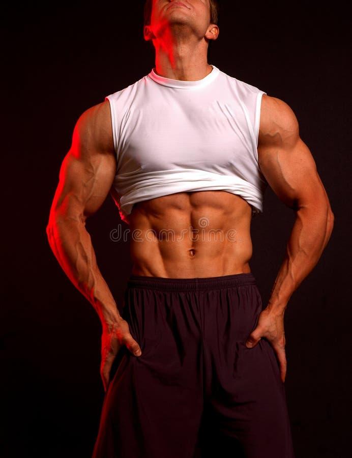 Modello di forma fisica nel bianco fotografie stock