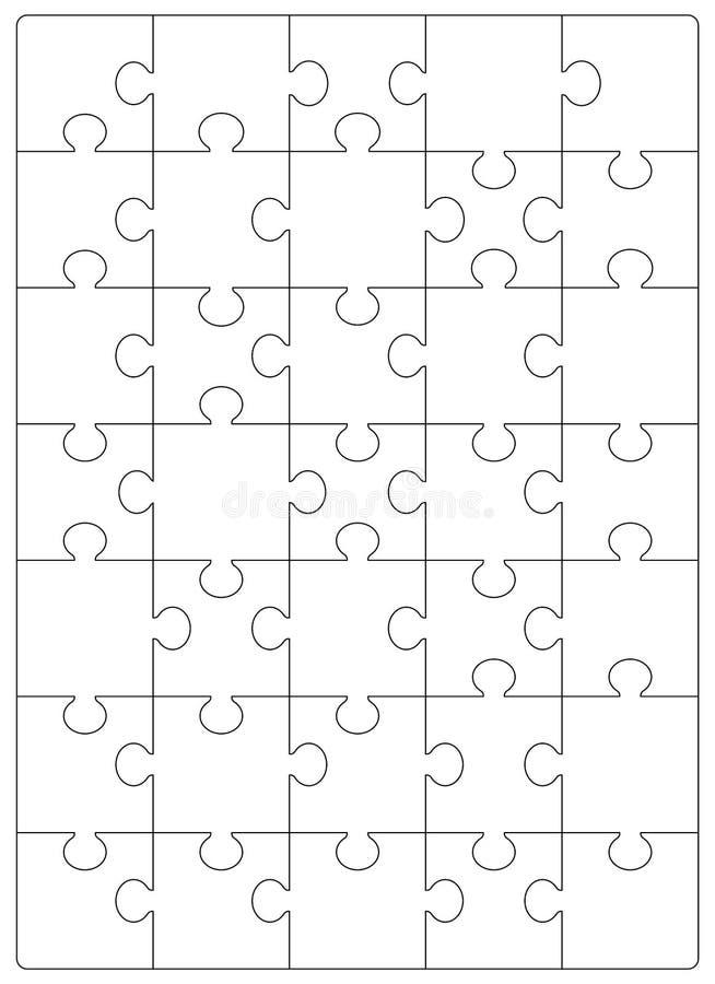 Modello di griglia di puzzle Puzzle 24 pezzi illustrazione di stock