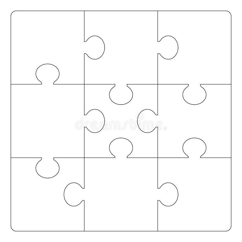 Modello di griglia di puzzle illustrazione vettoriale