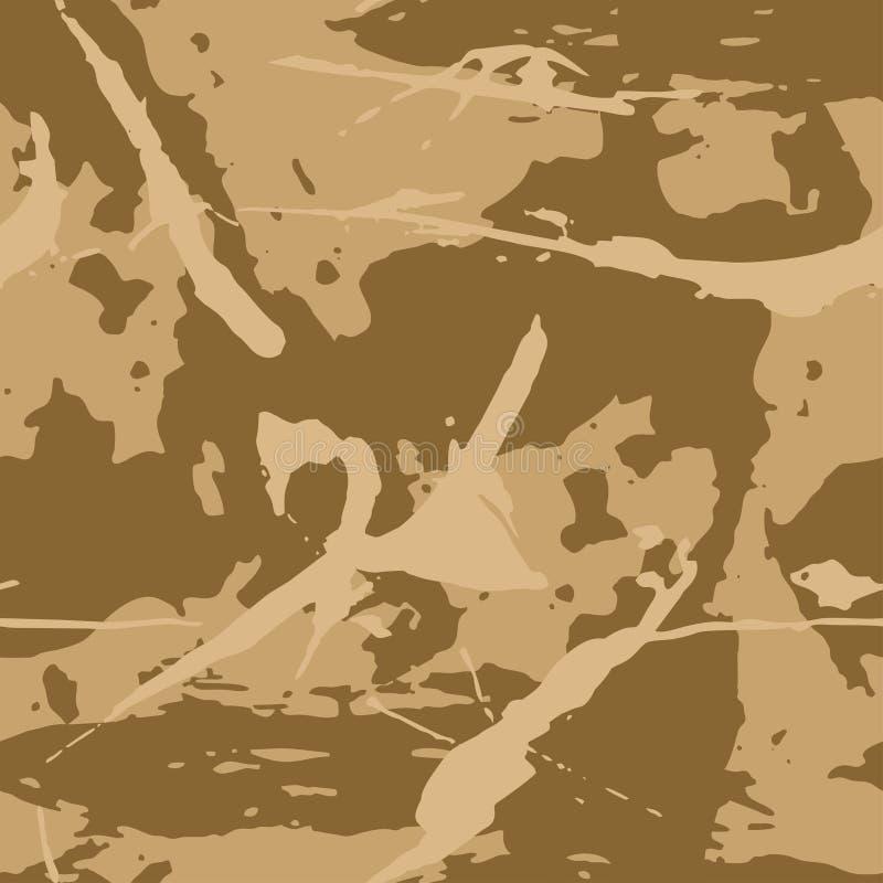 Modello di grigliato di camuffamento marrone Tessitura militare moderna di amo, tessuto alla moda illustrazione di stock