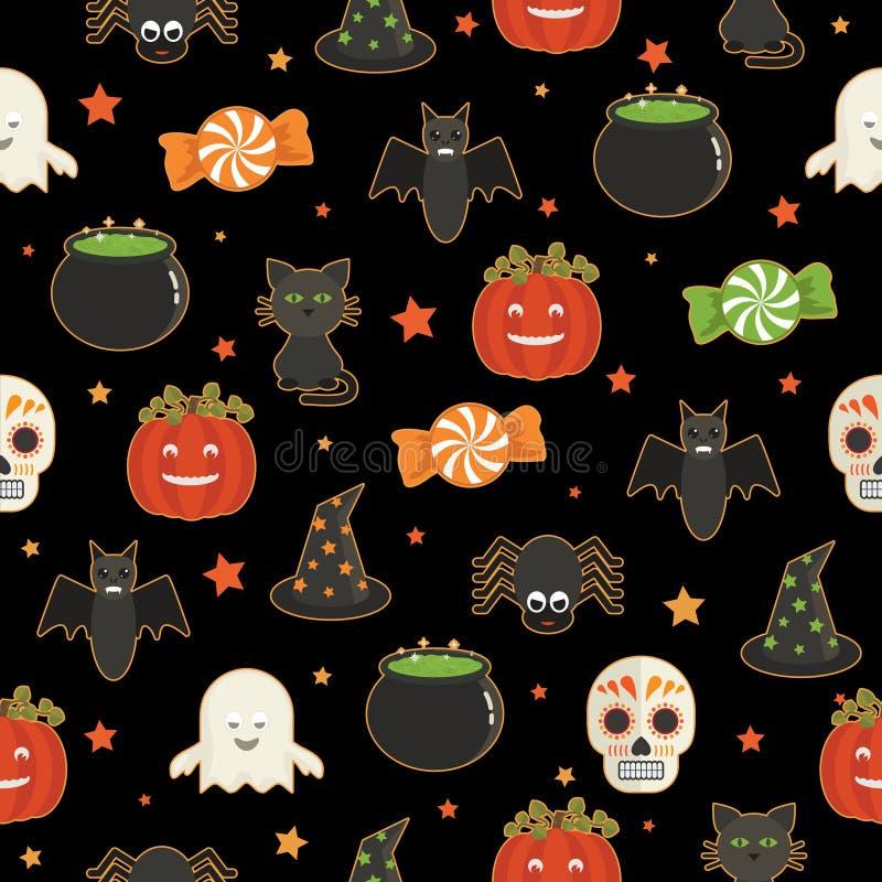 Modello di Halloween illustrazione di stock