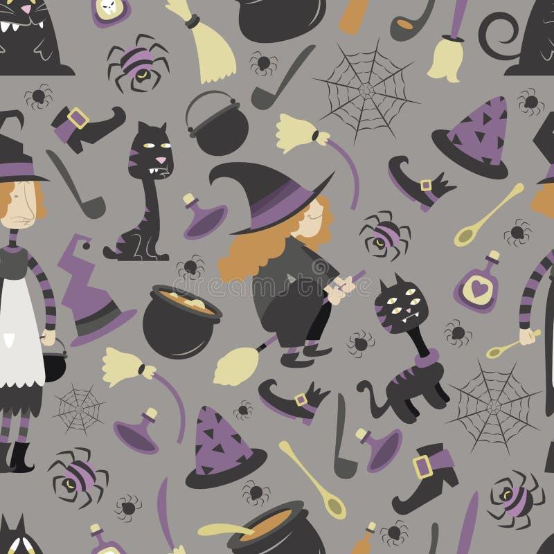 Modello 02 di Halloween illustrazione vettoriale