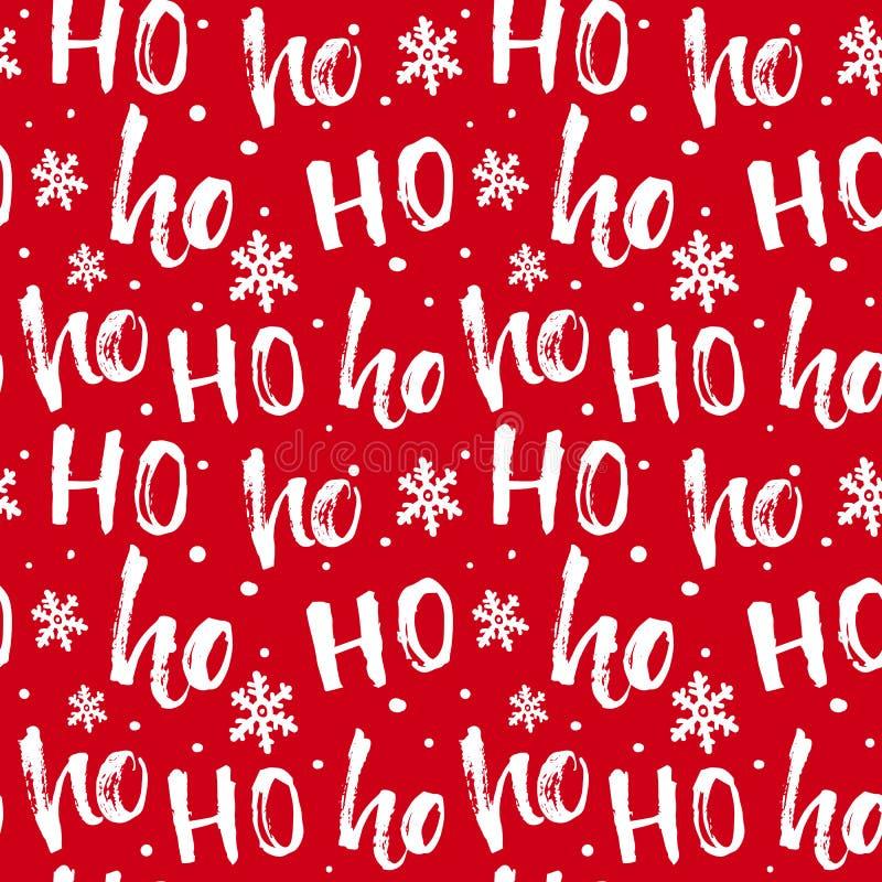 Modello di Hohoho, risata di Santa Claus Struttura senza cuciture per progettazione di Natale royalty illustrazione gratis