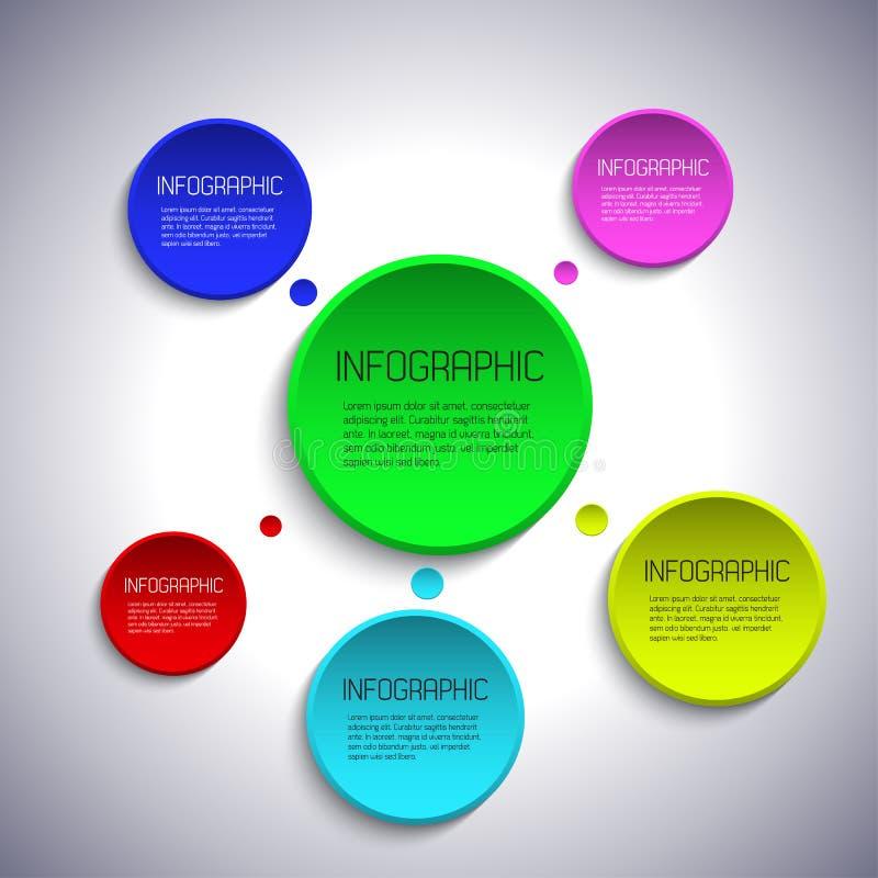 Modello di Infographic con il posto per il vostro testo illustrazione di stock