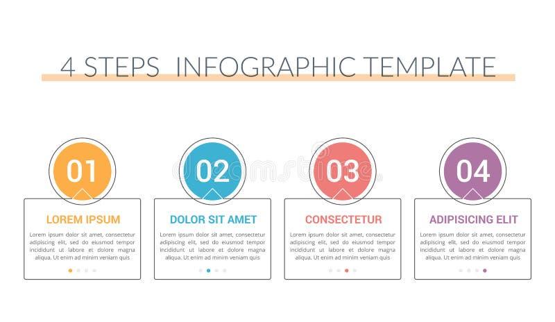 Modello di Infographic con 5 punti royalty illustrazione gratis