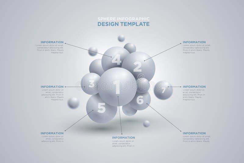 Modello di infographics della sfera royalty illustrazione gratis