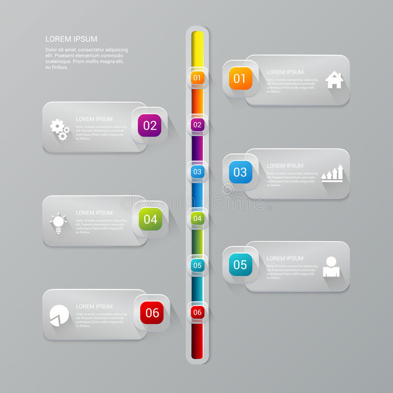 Modello di infographics della società di rapporto di processo di cronologia di vettore illustrazione di stock