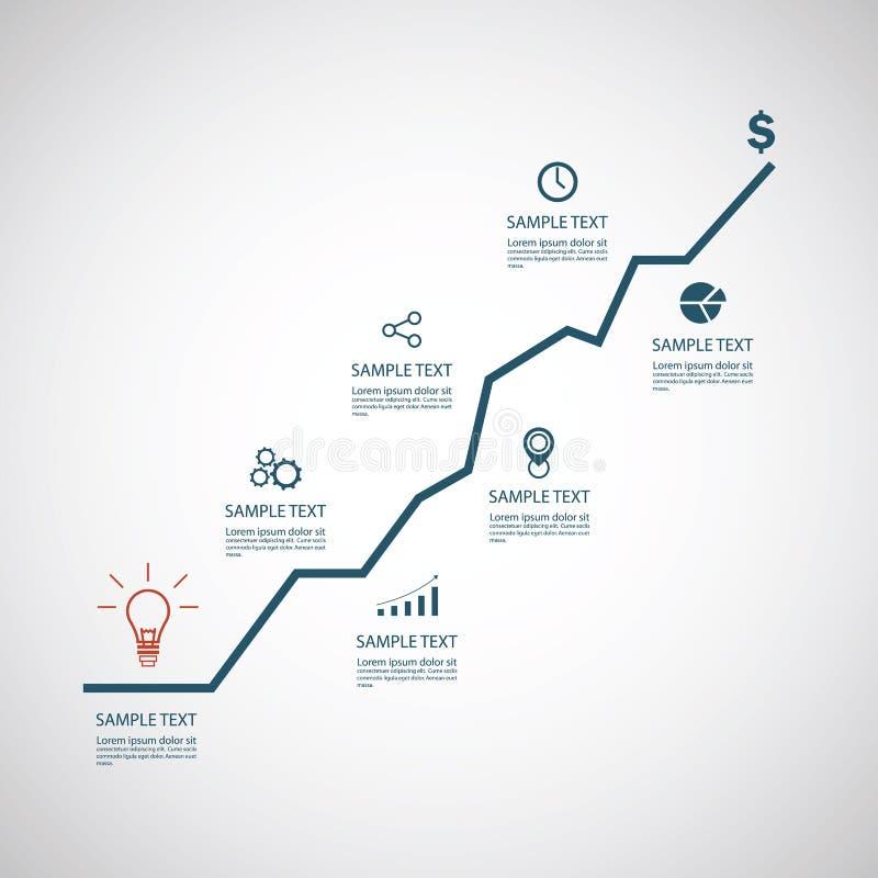 Modello di infographics di affari illustrazione di stock