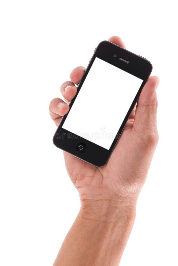Modello di iPhone 4 del Apple fotografia stock libera da diritti