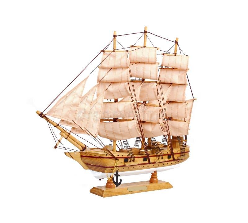 Modello di legno del giocattolo della nave immagini stock