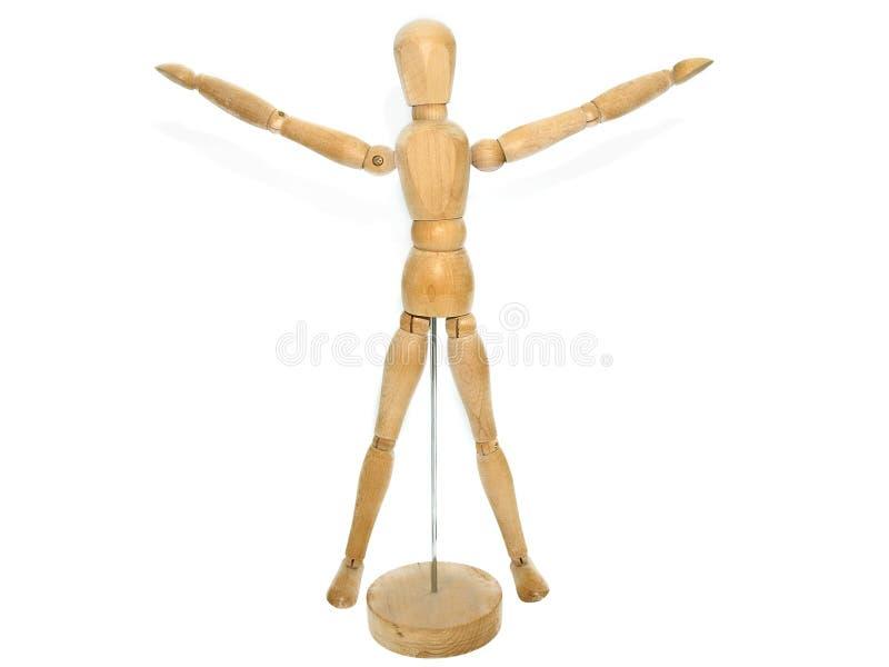 Modello di legno del manichino dell'artista immagini stock libere da diritti